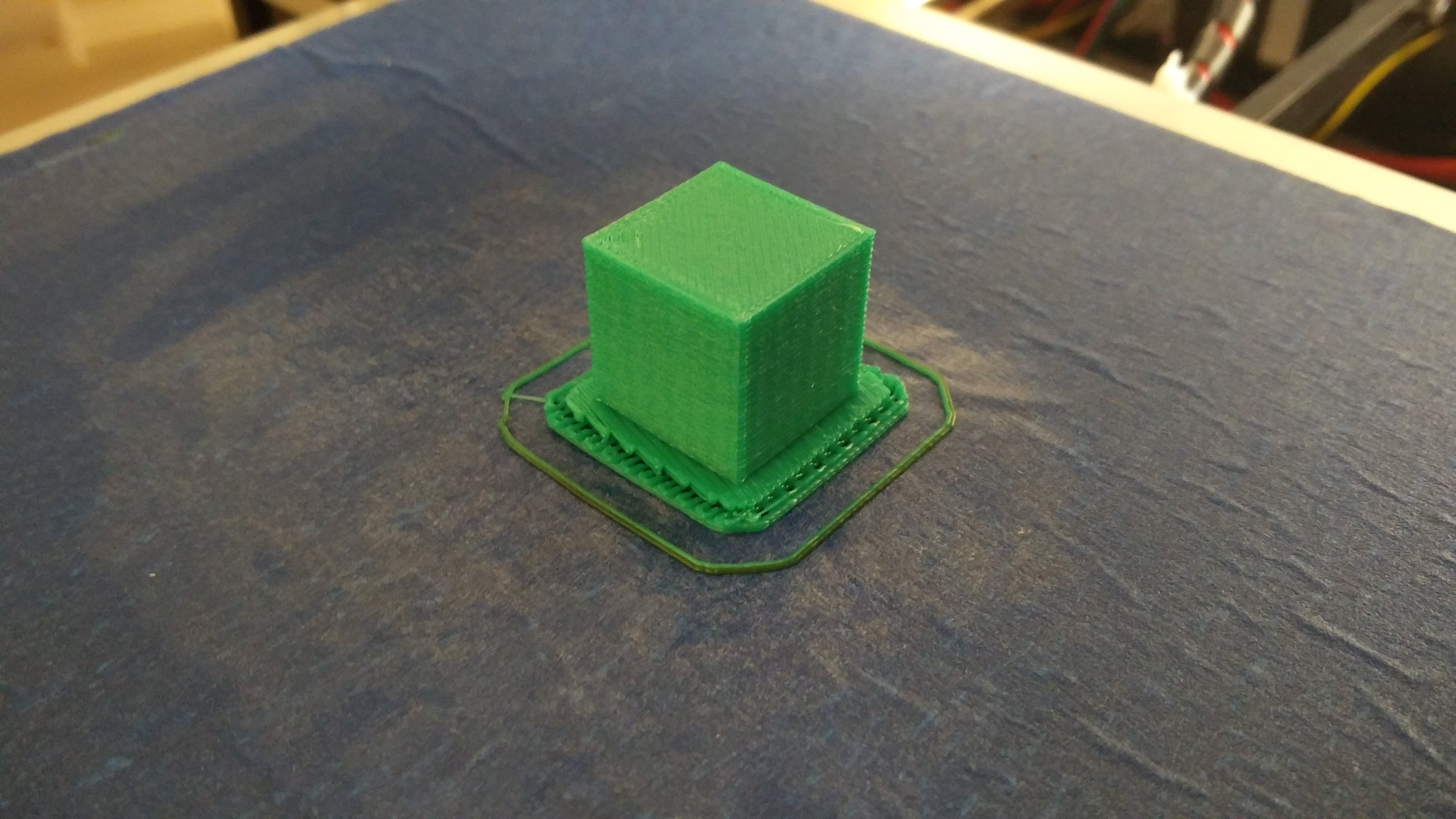 20mm Calibration Cube Using the Last of the Ugly Green Filament