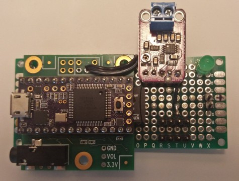 Assembled PCB front