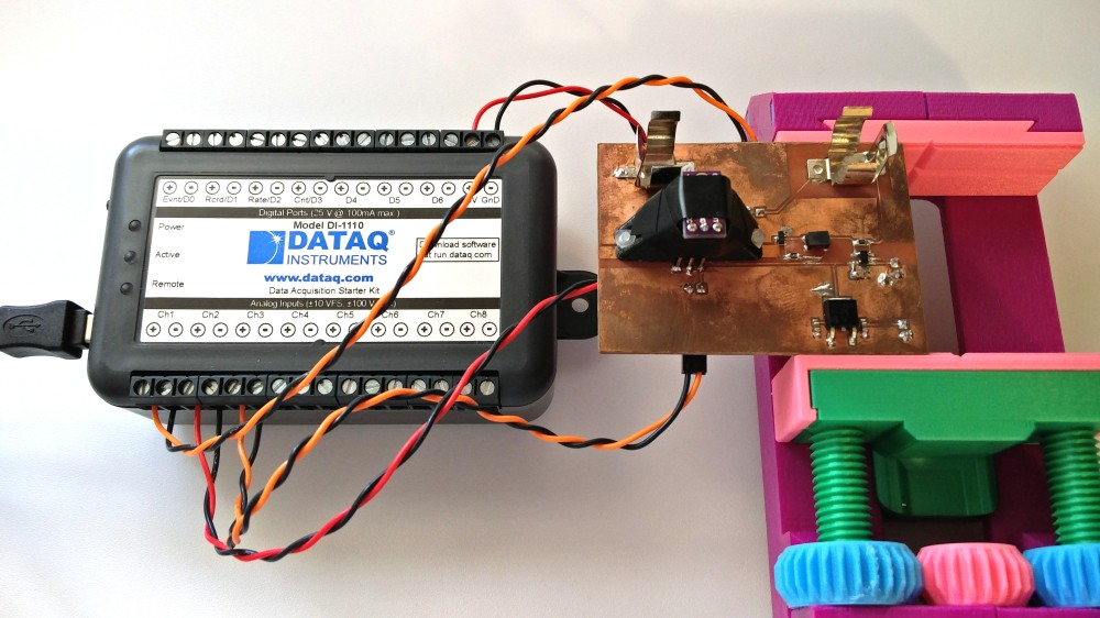 Joule Thief Connected to DI-1110 Data Logger
